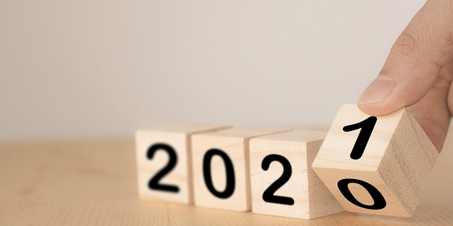 End of the year 2020 changing to 2021